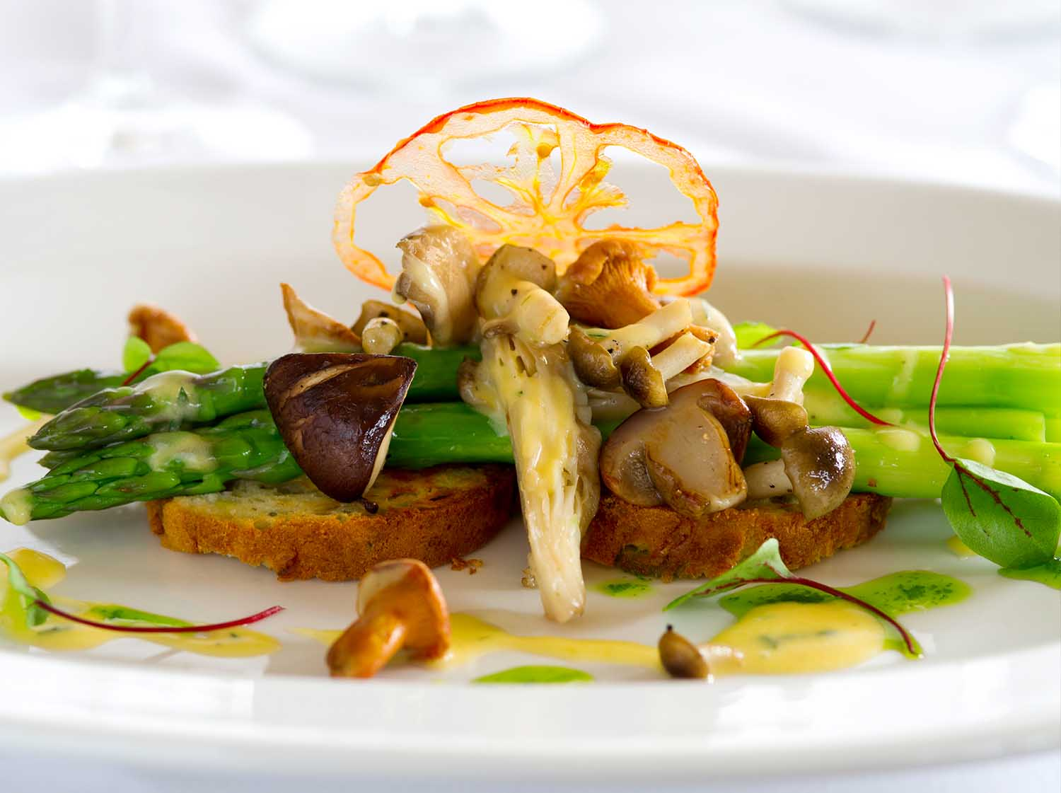 Food - Mushrooms and Asparagus