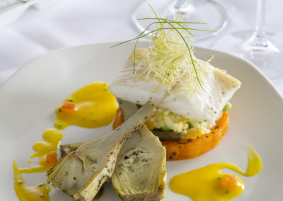 Halibut with Butternut Risotto